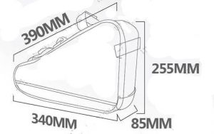 Battery Frame Bag Dimensions