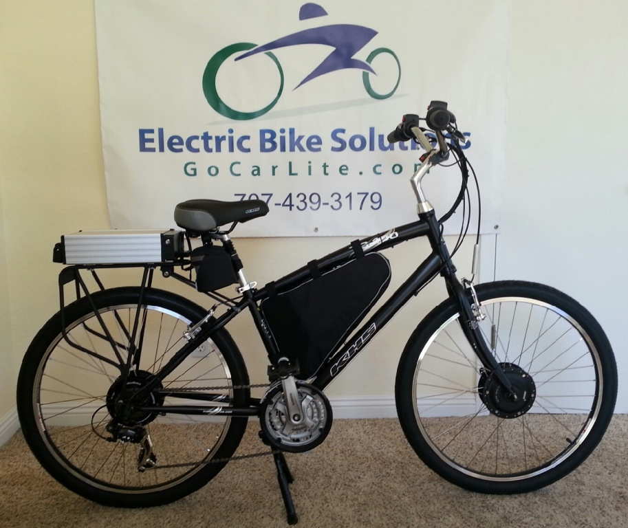 Khs tc 100 electric dual motor bicycle electric bike for Go e bike motor