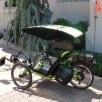 Recumbent Trike with Visor Cover