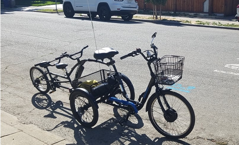 Electric Raleigh Trike and trailer