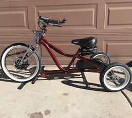 Electric Low Rider Trike - Albuquerque, NM 12/2018